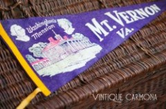 Large Souvenir Pennant for Mt. Vernon VA.