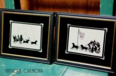 【Reliance】 Silhouette Reverse Framed Picture Set