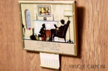 Silhouette Reverse Framed Picture with Thermometer