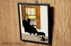 【NEWTON MFG. CO】 Silhouette Reverse Framed Picture