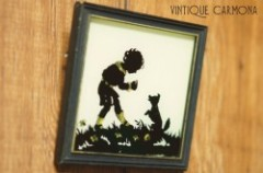 Silhouette Reverse Foil Framed Picture