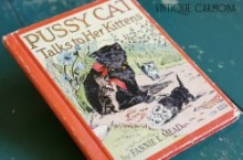 "Hardcover book ""PUSSY CAT Talks to Her Kittens"""