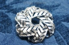 【CROWN TRIFARI】Round Weave Knot Brooch