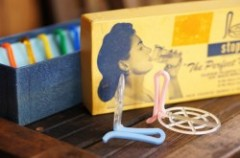 "50's Plastic ""STOP-ICE"" Holder Set"