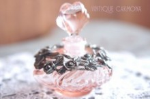 Light Pink Glass Perfume Bottle