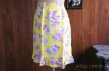 Flower Print Cafe Apron (Yellow)