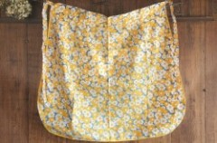 Orange x Navy x White / Flower Pattern Cafe Apron