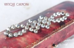 Edwardian Clear Rhinestone Brooch