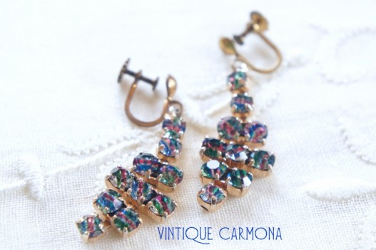 Iris Glass Swing Earrings