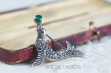 Silver & Marcasite Sea Lion Brooch