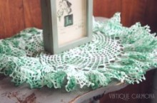 Ruffle Edge Table Doily