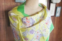Flower Print Long Scarf