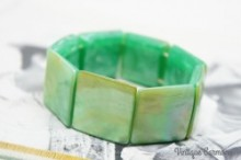 Mother of Pearl & Lucite Stretch Bracelet
