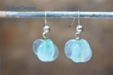 Art Glass Beads Remake Pierced Earrings
