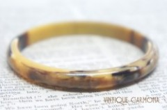 Creamy Amber x Brown Marble Bangle