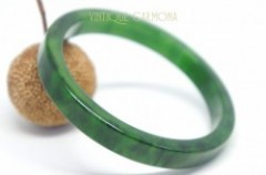 Bakelite Bangle : Green Marble