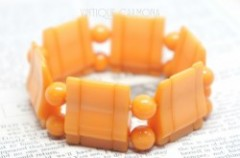 Butterscotch Bakelite Tile Bracelet