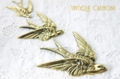 Brass Swallow Wall Decoration 3 pcs Set