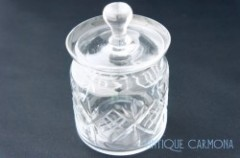 Cut Glass Cookie Jar with Lid