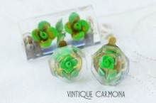 Lucite Brooch & Earrings Set