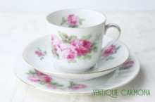 【Victoria】 Trio / Cup & Saucer & Plate Set