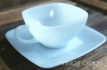 【Fire King by Anchor Hocking 】 Azur Cup and Saucer Set