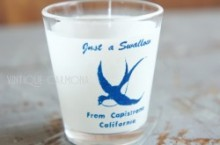 Swallow California Souvenir Shot/Liquer Glass