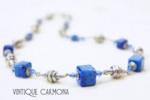 Lapis Glass Necklace