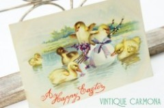 Postcard * Easter ducks  *