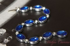 Blue Cut Glass Bracelet