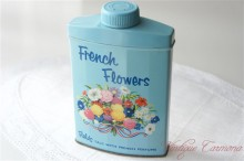 """Fields"" French Flowers TALC  TIN"
