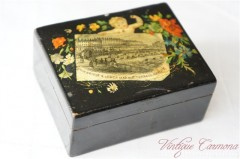 Vintage Souvenir Hand Painted Wooden Box