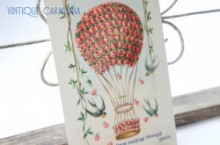 Postcard * Balloon & Swallows  *