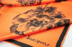 【Jacqmar】 Orange Flower Scarf