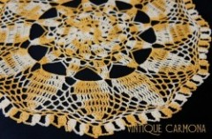 Ocher & Cream Table Doily
