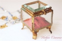 VICTORIAN French Glass Jewelry Box