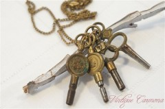 Pocket Watch Winding Key Pendant