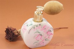 Hand Painted Flower Perfume Bottle