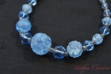 Crackle Glass Beads Necklace