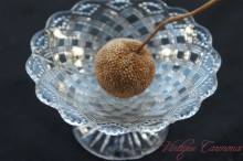 Clear Pressed Glass Pedestal Dish