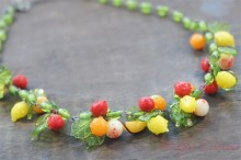 Fruits Charm Glass Necklace