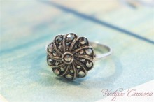 Silver x Marcasite Ring #8.5
