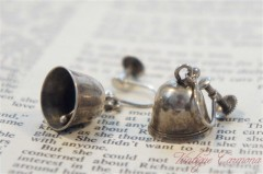 Silver Bell Motif Earrings
