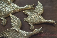Brass Duck Wall Decoration 3 pcs Set