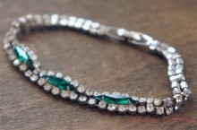 【BLANCA】 Cut Glass Bracelet