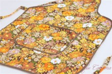 Full Apron Orange Flowers