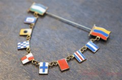 Flags Stick Pin Brooch