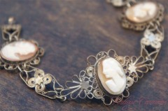 Shell Cameo Filigree Blacelet