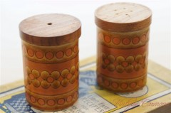 "【Hornsea】 ""SAFFRON"" Salt & Pepper Shaker Set"