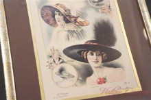 Lady's Fashion Picture Frame :French Hat